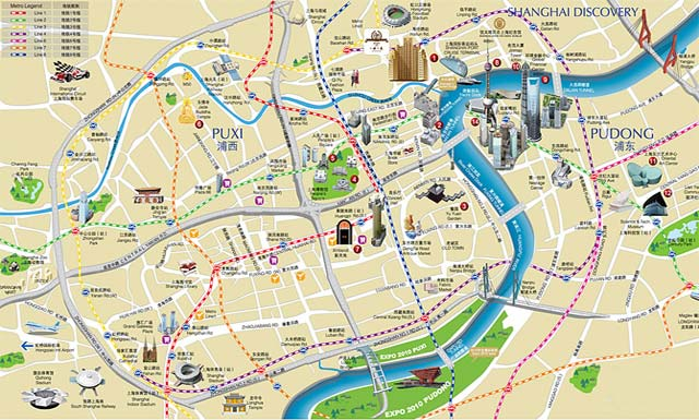 上海风情 - 交通地图